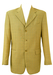 Lightweight Virgin Wool Blazer in Taupe with a Blue Check Pattern - L