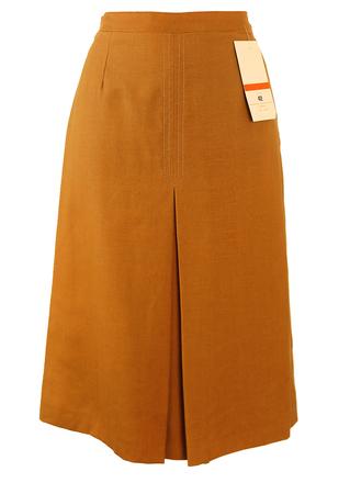New/Deadstock Midi Length Brown A Line Skirt - S