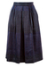 Midi Length Skirt with Blue, Pink & Purple Striped Pattern - S/M