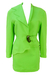 Vintage 90's Thierry Mugler Acid Green Skirt & Jacket Two Piece - S/M