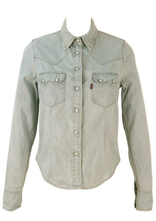 Levis Light Blue 'Red Tab' Denim Shirt - S/M