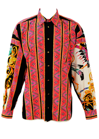 Versace Jeans Couture Multi Coloured, Multi Patterned Shirt! - L/XL