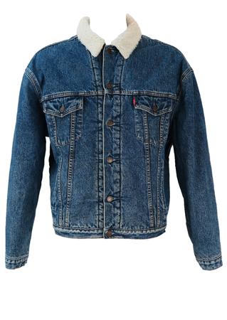 Levis Fleece Lined Denim Sherpa Jacket - XL