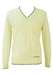 Ellesse Cream V Neck Jumper with Navy Trim - M