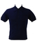 Vintage 1960's Italian Fine Knit Navy Blue Polo Shirt - S