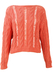 Coral Pink Loose Knit Cable Jumper - S/M
