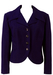 Vintage 1970's Navy Blue Jacket with Decorative Button Detail - M