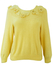 Yellow Jumper with Crochet & Knitted Flower Detail - M