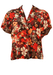 Vintage 1960's Brown & Orange Floral Patterned Blouse - L