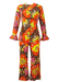 Vintage 1960's Psychedelic Floral Trouser & Top Two Piece - S/M