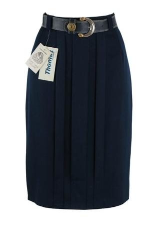 Pure New Wool Navy Pencil Skirt - Unused - S