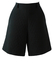 Black Quilted Silk Shorts - M