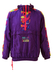 Purple Track Jacket / Hoody with Multicolour Abstract Print - M/L