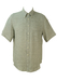 Krizia Cream & Grey Striped Linen Shirt - XL/XXL