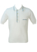 Vintage 1960's White Mesh Knit Italian Polo Shirt - M/L