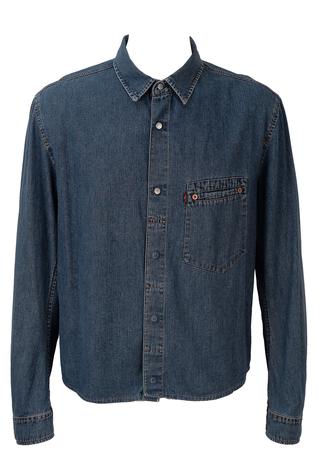 Levis 'Red Tab' Mid Blue Denim Shirt - L/XL