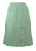 Light Blue & White Wrap Front, Knee Length Skirt - S/M