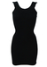 Black Mini Bodycon Dress - XS/S