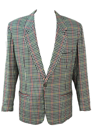 Check Jacket with a Navy, Green, Red & Yellow Check - L/XL