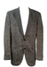 Grey & Russet Herringbone Patterned Linen Blazer - L/XL