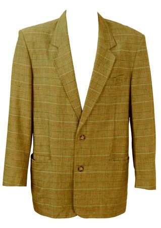 Lightweight Green, Lilac & Blue Check Blazer Jacket - L