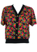 Short Sleeved Multi Coloured Ditsy Floral Print Top - M/L