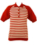 Russet & White Striped Short Sleeved Top - M