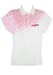 Fila Polo Shirt in White with Flecked Pink Design - M/L