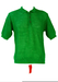 60's Style Mesh Knit Emerald Green Polo Shirt - L