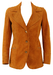 Vintage 1970's Suede Tan Fitted Jacket - XS/S