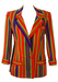 Gianni Versace Red Multi-Coloured Striped Blazer - S/M