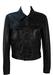Black Super Soft Leather Cropped Jacket - S/M