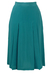 Pancaldi & B, Blue Silk Pleated Midi Skirt - S