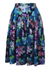 Blue, Purple & Green Floral Patterned Tiered Skirt - S/M