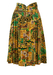 Vintage 1980's Abstract Paisley Print Midi Skirt in Green, Yellow & Brown - M