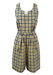 Two Piece Top with High Waist Culottes in a Yellow & Blue Check - S