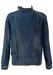 Denim Blue Jacket with Asymmetric Popper Fastenings - M/L