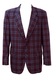 Blue, Red and White Check Lightweight Jacket - L