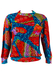 Best Company Multi Coloured Batik / African Print Sweatshirt - XS/S