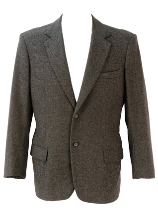 Italian Grey Tailored Blazer - M/L
