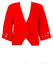 Cropped Red Jacket with Cut Out Detailing - M
