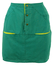 Teal Mini Skirt with Yellow Pocket Detail - S