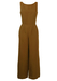 Brown Sleeveless Jumpsuit - M