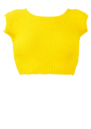 Yellow Knitted Crop Top - XS/S
