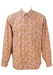 Long Sleeved Pink Shirt with a Yellow & Purple Floral Print - M/L