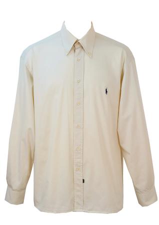Ralph Lauren Cream Cotton Shirt - XXL/XXXL