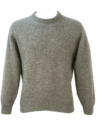 Lacoste Light Grey Pure New Wool Jumper - S/M