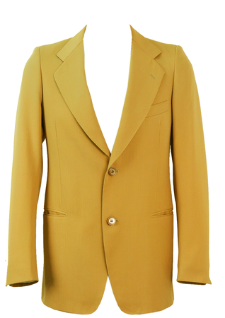 MJACSS015 - Camel brown 'Strong' two button blazer