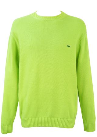 Lacoste Mint Green Round Neck Cotton Jumper - XL/XXL