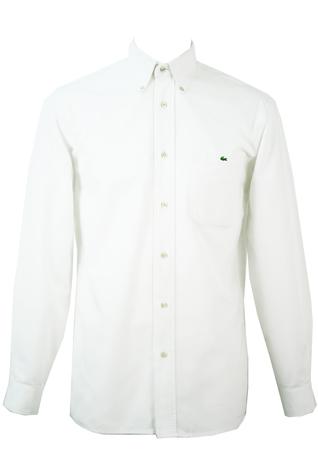 Lacoste White Cotton Shirt - M/L